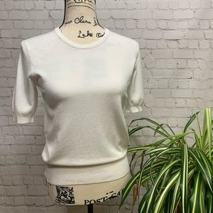 Philosophy White knit top